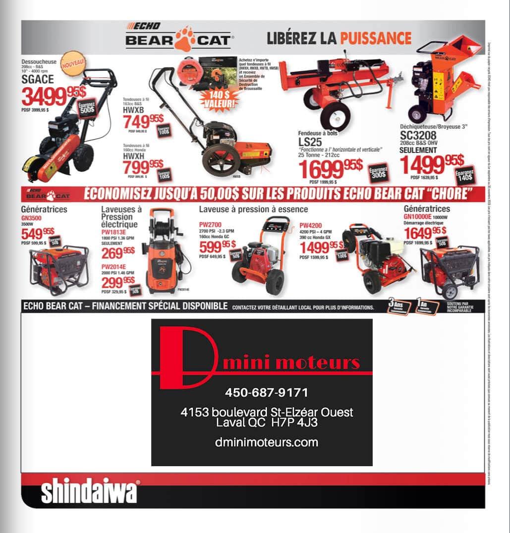 SHINDAIWA - Promotions Automne 2019 - D mini moteurs - Laval - 4